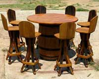 barrel-bar-set-six-chairs